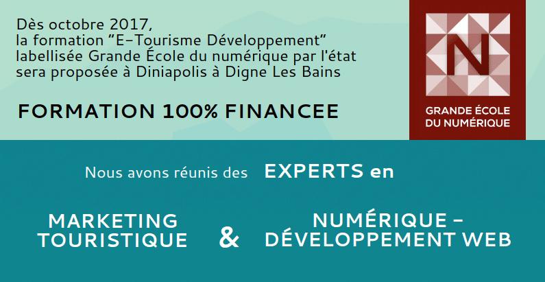 Entreprises – Participez à la formation E-Tourisme Développement / Grande Ecole du Numérique