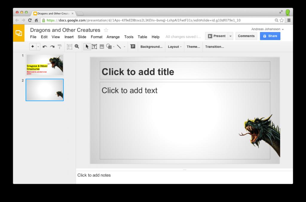 google-slide
