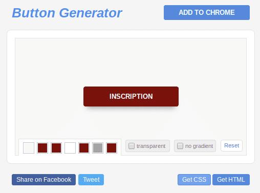 création de bouton web