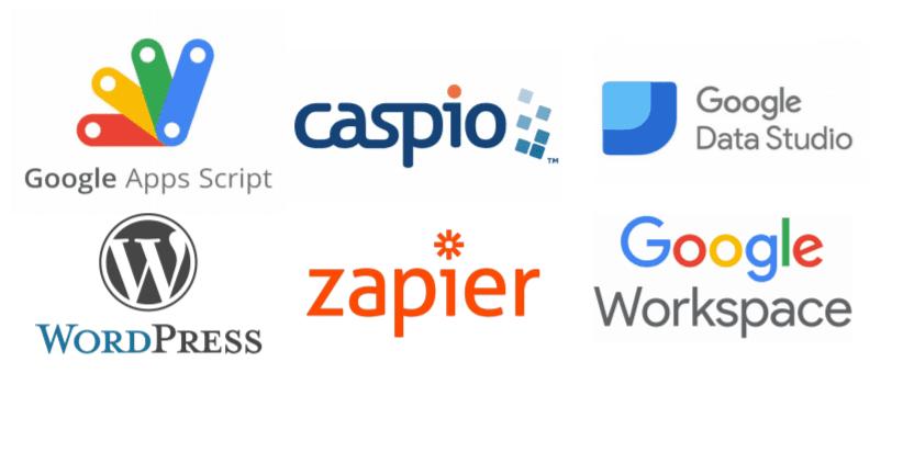solutions agilitateur digital caspio, google app script google data solution zapier