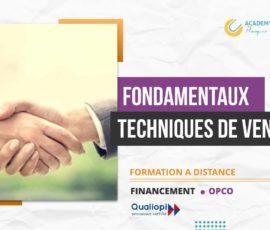 FONDAMENTAUX DES TECHNIQUES DE VENTE